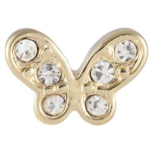 Picture of Gold Crystal Butterfly Charm